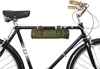 Hide & Drink Water Resistant Canvas Bike Pack Tube Handmade Olive