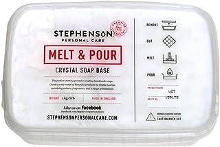 Stephenson Vegan and Kosher SLS-Free Glycerin Melt and Pour Soap Base, White