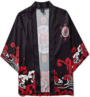 LYH Estilo Japonés Tigre Kimono Tokio Streetwear Hombres ...