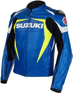 Suzuki GSXR GSX-R Gixxer Leather Jacket Blue & Yellow X-Large