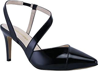 Women's Heels Classic Pointed Toe Mid Kitten Heels High Heel Strappy Transparent Slingback Party Dress Pumps