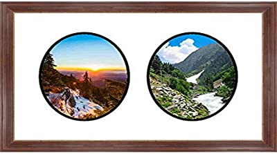 Navy Blue Frames by Mail multimat-58671-108 Four Oval Opening Collage Frame for 4 x 6 Photo