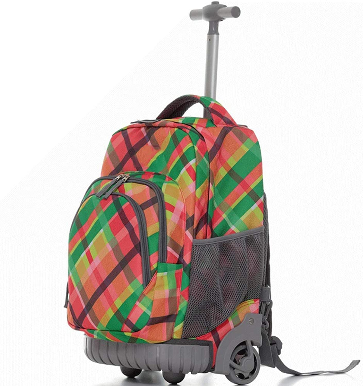 YEXIN Wheeled Laptop Backpack, Great for High School, College Backpack, Rolling School Bag, Travel Backpack, Carryon Bag Perfect for Boy and Girl