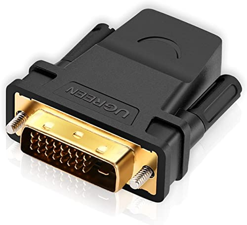 discount UGREEN DVI to HDMI Adapter, DVI-D 24+1Male to HDMI online sale Female High Speed Adapter Converter Gold Plated Support 1080P discount for HDTV, Plasma, DVD, Projector, Computer online sale