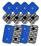TENSPAD SILVER 12 electrodos con patrón de Plata para Compex (8 electrodos 50x50mm con 1 Snap y 4 electrodos 50x100mm con 2 Snaps)