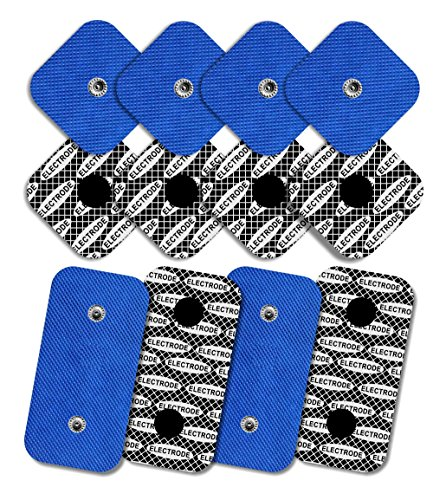 TENSPAD SILVER 12 elettrodi Compex (8 elettrodi di 50x50 mm con 1 Snap e 4 elettrodi di 50x100 mm con 2 Snap)