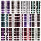 14 Blatt Glitzer Selbstklebend Nagelaufkleber,Nail Art Aufkleber Nagelfolie Nagel Kunst Sticker Tattoos Nagel Abziehbilder
