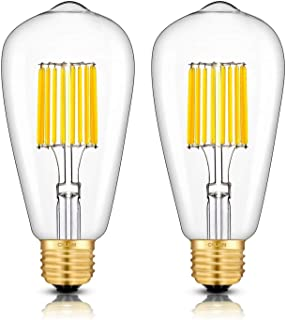 CRLight 10W Dimmable LED Edison Bulb 100W Equivalent 1000LM 3000K Soft White, E26 Medium Base