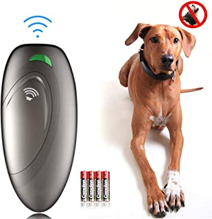 Ina Ella Ultrasonic Dog Barking Control Devices Anti Barking Device Dog Training Aid Handheld Dog Bark Trainer Stop Barking for Walk a Dog Outdoor with Wrist Strap