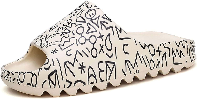 Unisex Slide Sandal Non-Slip Slippers Soft Pool Slides Indoor & Outdoor Light Weight House Slides Slippers Bathroom Shower Sandals For Men Women Teenagers EVA Platform