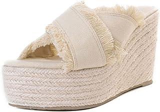 Dear Time Slippers Summer Platform Espadrilles Tassel Wedges Sandals