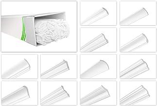HEXIM O Plafondlijsten van piepschuim XPS - Hoogwaardige stuclijsten licht en robuust in modern design - (20 meter voordee...