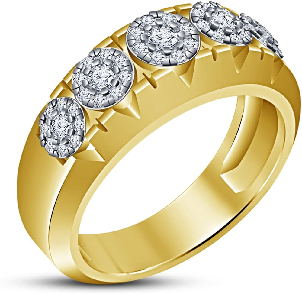 Long-awaited TVS-JEWELS Wedding Band Ring for Sterling Gold 14k Max 83% OFF Plated Men's