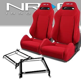 Pair of RSTRLGRD Racing Seats+Mounting Bracket for Honda Civic/Acura Integra Sedan & Coupe