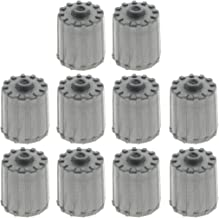 MOTOALL 10pcs Plastic Gray Tire Valve Stem Caps TPMS Tire Cap for Car Truck