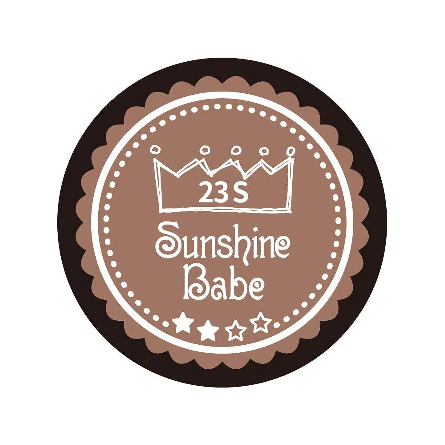発行抗議ライフルSunshine Babe コスメティックカラー 23S パティキュリエール 4g UV/LED対応