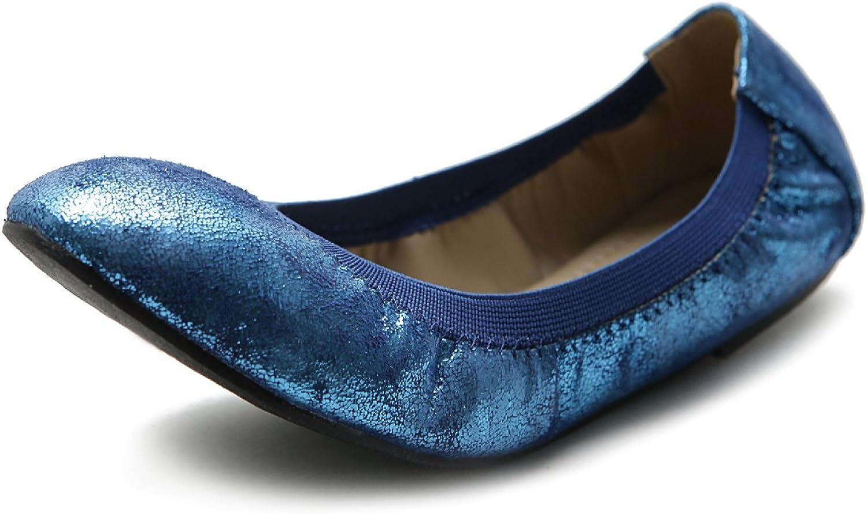 Ollio Women's shoes Comfort Multi color Cute Ballet Flat