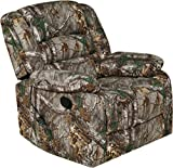 RelaxZen Longstreet Rocker Recliner with Massage, Heat and Dual USB ports, Realtree Camo