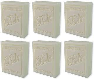 Bela Bath & Beauty, Extra Creamy Goats Milk Gift, Triple Milled Moisturizing Soap Bars, No Harsh Ingredients, 3.5 oz each - 6 Pack