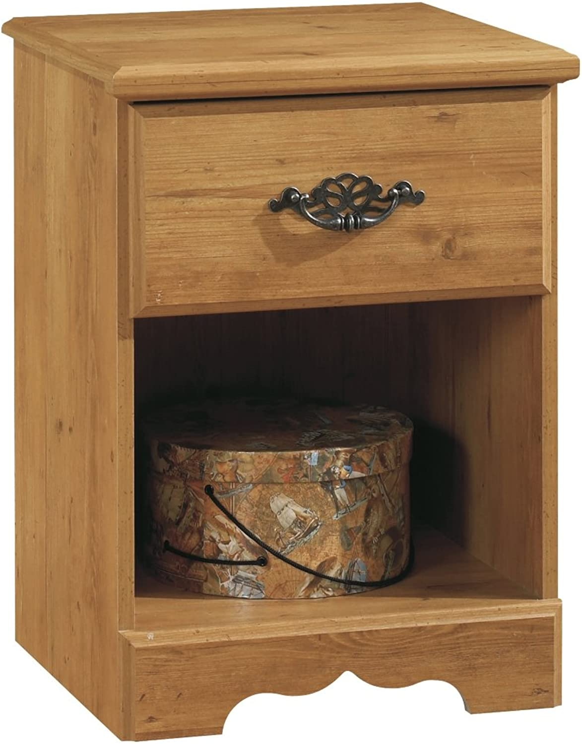 South Shore Prairie Nightstand in Country Pine