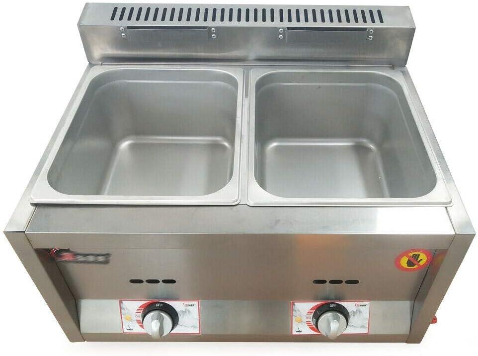 DNYSYSJ 6L Gas Ranking TOP16 Fryer Ultra-Cheap Deals 2 Food Warmer Wells Commercial Deep