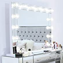 Vanity Living White Hollywood Makeup Mirror with Lights, Dressing Table Mirror, LED wall mounted and Table top mirror for ...