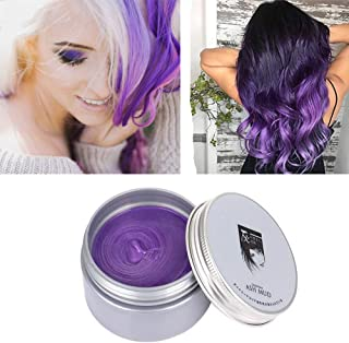 Purple Hair Color Wax, Temporary Hair Color 4.23 oz for Clubbing, Daily Use, Party, Cosplay, Halloween (Purple)