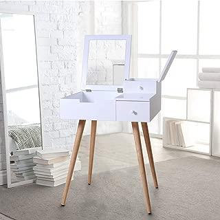 Organizedlife White Mirror Vanity Dresser Table with Drawers
