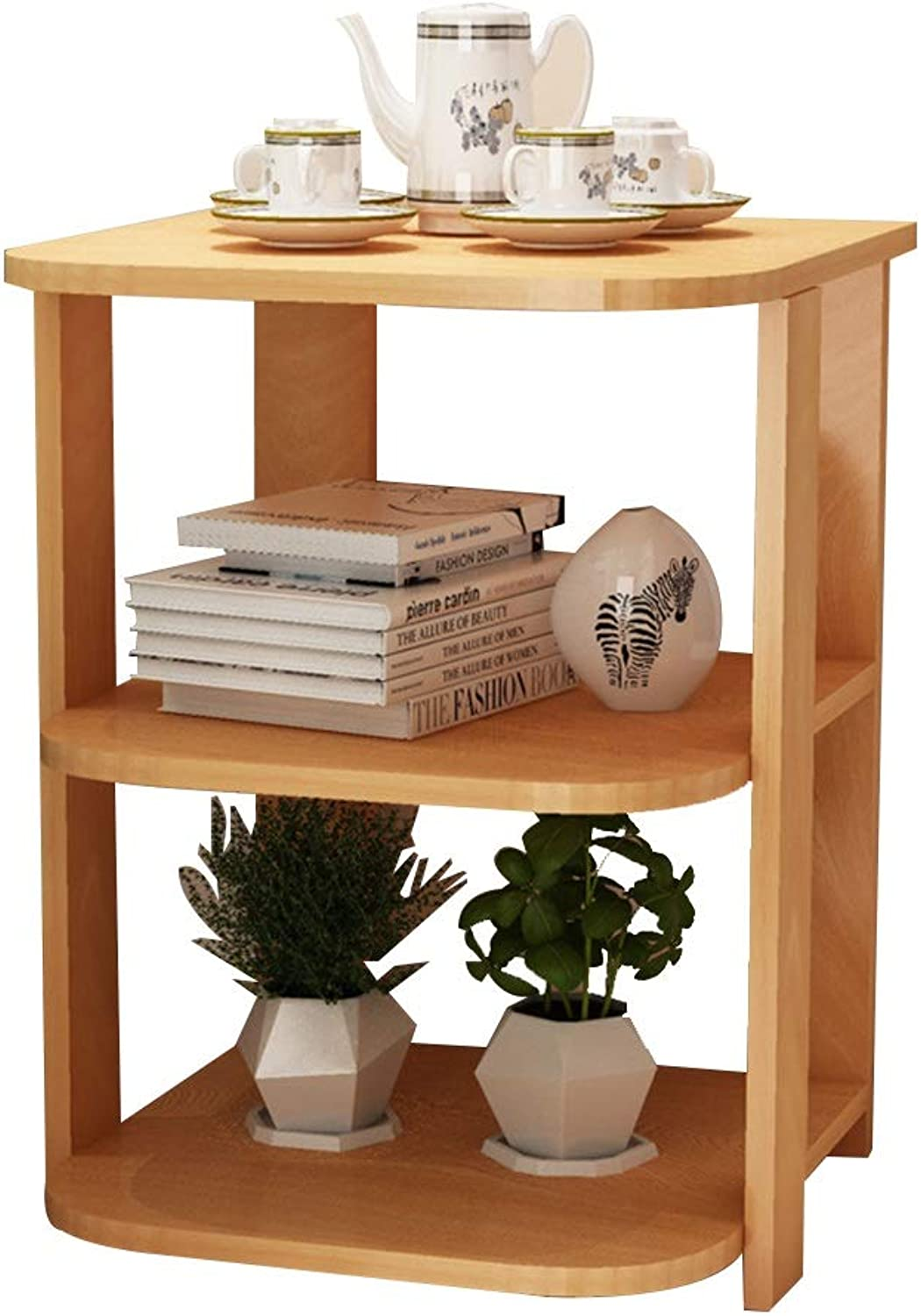 Coffee Table Side Table, Multi-Tier Storage Small Coffee Table Modern Simplicity Small Table in Living Room Mini Sofa Side Cabinet Bedroom Bedside Table (color   Wood color)
