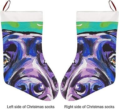 DSFAA Labrador Retriever Dog Lovely Christmas Stockings Santa Xmas Reindeer Decorations for Family Holiday