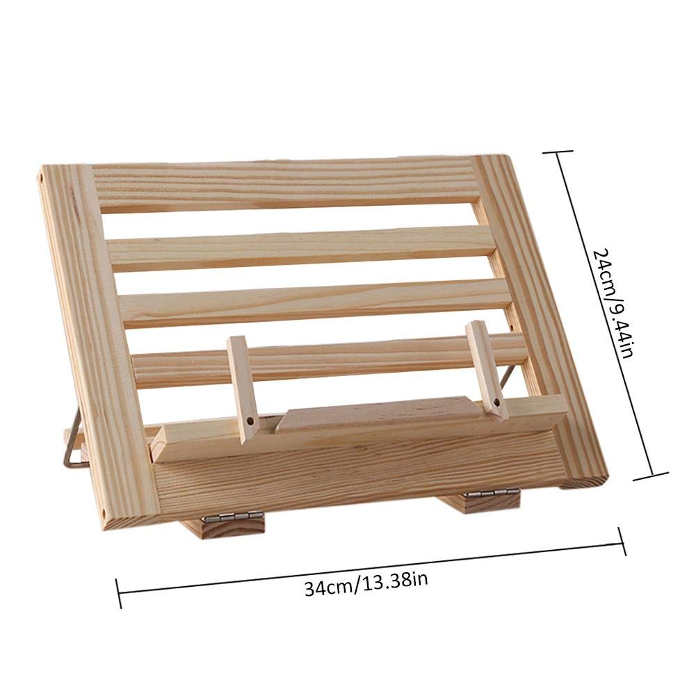 rcraftn Treadmill Soporte de Libros Ajustable de Madera para iPad, Tableta, Revista, Caballete: Amazon.es: Hogar