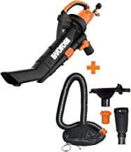 WORX WG509 TRIVAC 12 Amp 3-in-1 Electric Blower/Mulcher/Vacuum with Multi-Stage All Metal..