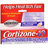 Cortizone 10 Intensive Healing Formula 1% Hydrocortisone Anti-Itch Creme 1 Ounce(Pack of 2)