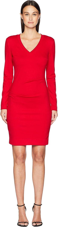 Nicole Miller Women's Ponte Bell Sleeve Dress