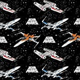 Camelot Star Wars Stoff, 0,5 m, 100% Baumwolle CAM374 Star