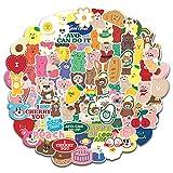 100Pcs Korean Cartoon Bear Waterproof Stickers for Water Bottle Cup Laptop Bike Skateboard Luggage Box Vinyl Graffiti Patches BRWJ