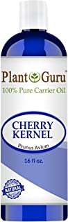 Cherry Kernel Oil 16 oz Cold Pressed 100% Pure Natural Carrier - Skin, Face, Body And Hair Growth Moisturizer. Great For DYI Creams, Lotions and Lip balms.