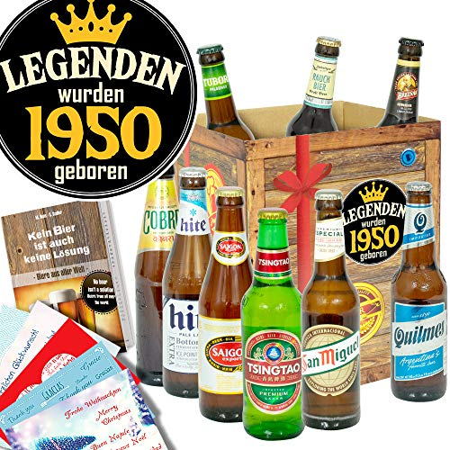 Legenden 1950   Bier aus der Welt   Bier Box zum Geburtstag