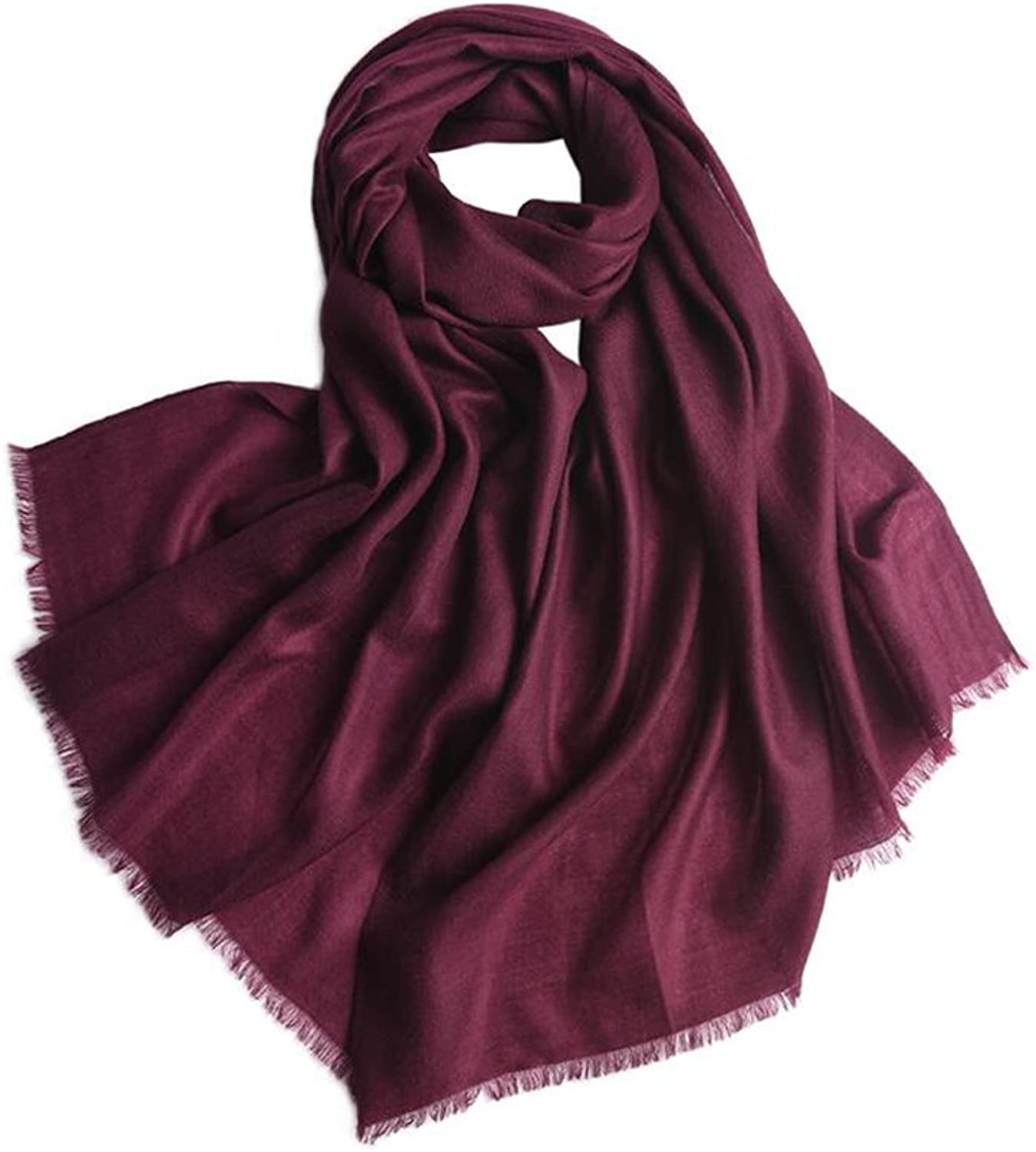 YQQ Scarf Woman Four Seasons Long Section Lithe Solid color Shawl 100  230cm (color   M)