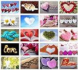 Tarjetas de boda Post Set/20tarjetas postales con corazón motivos/regalo Idea/Boda parte/tarjetas postales Amor/Post Crossing
