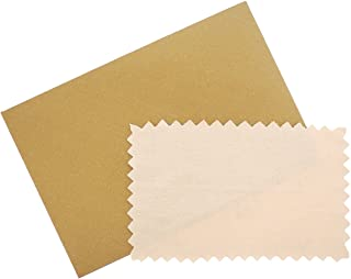 SOVATS Semi-Chamois Polishing Cloth for Silver Gold Brass & Most Other Metals, 3.5
