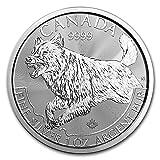 2018 1 oz Canadian Silver Wolf Predator Series Coin silver .999