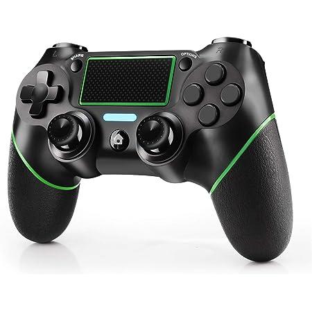 JAMSWALL Controller Wireless per PS4, Gamepad Bluetooth per Playstation 4 Controller di Gioco Wireless Doppio Shock a Sei-Assi Joystick con TouchPad e Jack Audio