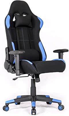 Ergonomic Gaming Chair Racing Style Office Chair Recliner Computer Chair  With Massage Fabric High Back