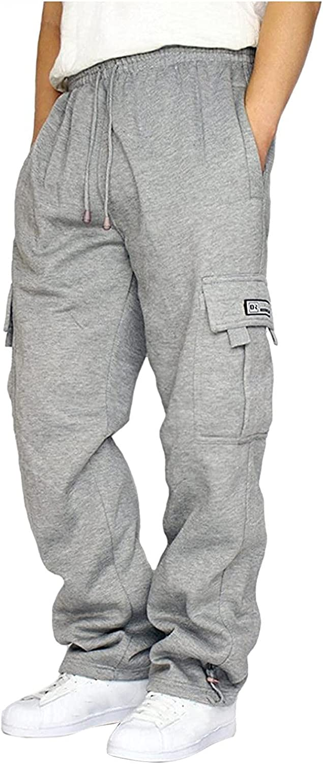 WOSHUAI Unisex Jogger Sweatpants for Mens Womens with Pocket
