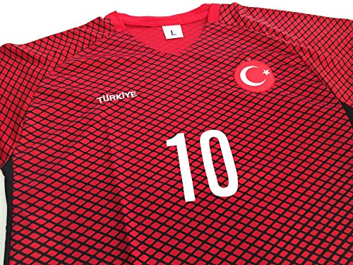 Anka Turquía Türkiye Fútbol–Camiseta para Hombre Camiseta de fútbol EM 2016