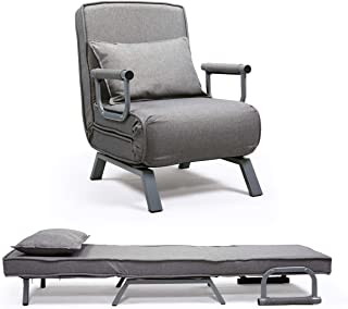 JAXPETY Sofa Bed Folding Arm Chair Single Sleeper Bed Chair Leisure Recliner Lounge Couch