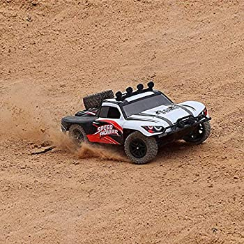 FUNTECH RC Car High Speed Remote Control Car 1/18 Scale 2.4 Ghz Radio Fast 30+ MPH 4x4 Off Road Remote Control Trucks with LED Light Terrain RC Cars Great RC Trucks for Adults Kids