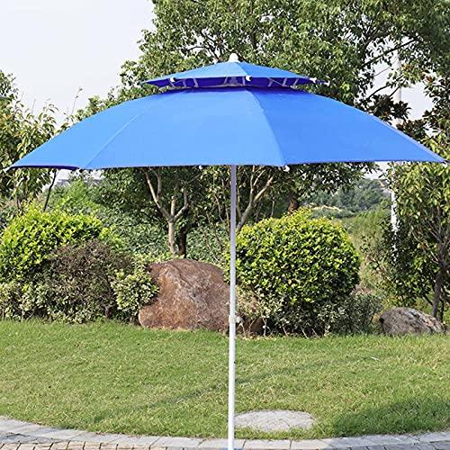 CMJM Sombrillas Terraza 240cm Sombrilla Balcón Sombrilla Redonda para Exteriores Poste De Acero Resistente Al Viento Y a La Oxidación para Balcón Jardín Piscina (Azul)