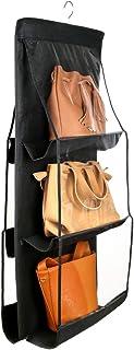 Szxc Hanging Medium Handbag Purse Organizer - with Dual-Sided 6 Clear See-Through Pockets (10 L x 12 W x 6 H) inch - Close...